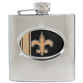 NEW ORLEANS SAINTS Stainless Steel Oval Hip Flask