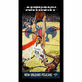 New Orleans Pelicans Anthony Davis Player Profile Wall Art 9.5x19 Framed Photo