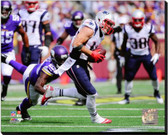 New England Patriots Julian Edelman 2014 Action 16x20 Stretched Canvas