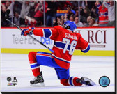 Montreal Canadiens P.K. Subban 2012-13 Playoff Action 16x20 Stretched Canvas AARG184-248