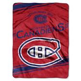 "Montreal Canadiens 60""x80"" Royal Plush Raschel Throw Blanket - Stamp Design"