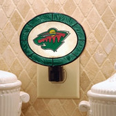 Minnesota Wild Art Glass Nightlight