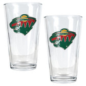 Minnesota Wild 2pc Pint Ale Glass Set
