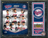 """Minnesota Twins 2011 Team  Composite 15""""x12"""" Plaque"""