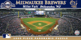Milwaukee Brewers Panoramic Stadium Puzzle
