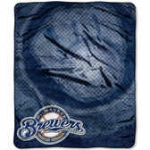 "Milwaukee Brewers 50""x60"" Retro Style Royal Plush Raschel Throw Blanket"