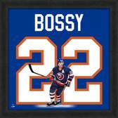 Mike Bossy New York Islanders 20x20 Framed Uniframe Jersey Photo