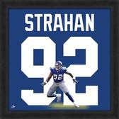 Michael Strahan New York Giants 20x20 Framed Uniframe Jersey Photo
