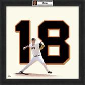 Matt Cain San Francisco Giants 20x20 Framed Uniframe Jersey Photo