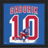 Marian Gaborik New York Rangers 20x20 Framed Uniframe Jersey Photo