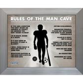Man Cave Rules Original 11x14 Framed Photograph (11x14 Silver 7429-No Matte)