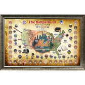 Major League Baseball Parks Map 20x32 Framed Collage w/ Game Used Dirt From 30 Parks - Mets Version