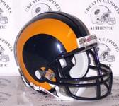 Los Angeles/St. Louis Rams 1981-1999 Throwback Riddell Mini Football Helmet