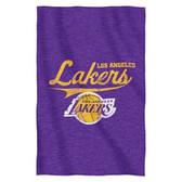 """Los Angeles Lakers 54""""x84""""Sweatshirt Blanket - Script Design"""