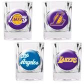 Los Angeles Lakers 4pc Square Shot Glass Set