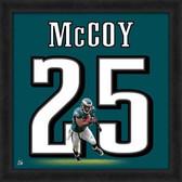 LeSean McCoy Philadelphia Eagles 20x20 Framed Uniframe Jersey Photo