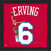 Julius Erving Philadelphia 76ers 20x20 Framed Uniframe Jersey Photo