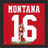 Joe Montana San Francisco 49ers 20x20 Framed Uniframe Jersey Photo