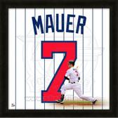 Joe Mauer Minnesota Twins 20x20 Framed Uniframe Jersey Photo
