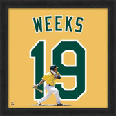 Jemile Weeks Oakland Athletics 20x20 Framed Uniframe Jersey Photo