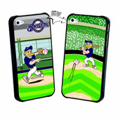 Iphone 5 MLB Milwaukee Brewers Mascot Lenticular Case