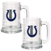 Indianapolis Colts 2pc Glass Tankard Set