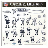 """Indianapolis Colts 11""""x11"""" Family Decal Sheet"""