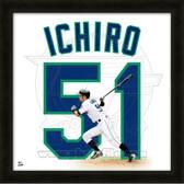 Ichiro Suzuki Seattle Mariners 20x20 Framed Uniframe Jersey Photo