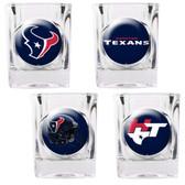 Houston Texans 4pc Collector's Shot Glass Set