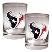 Houston Texans 2pc Rocks Glass Set