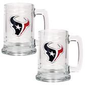Houston Texans 2pc Glass Tankard Set