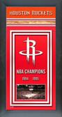 Houston Rockets Framed Championship Banner