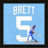 George Brett Kansas City Royals 20x20 Framed Uniframe Jersey Photo
