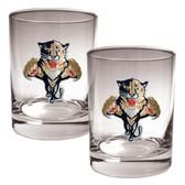 Florida Panthers 2pc Rocks Glass Set - Primary Logo