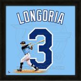 Evan Longoria Tampa Bay Rays 20x20 Framed Uniframe Jersey Photo