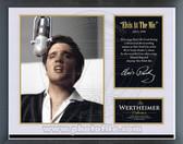 """Elvis Presley - """"Elvis at the Mic"""" Music & Memories Framed Photo"""