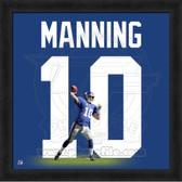 Eli Manning New York Giants   20x20 Framed Uniframe Jersey Photo