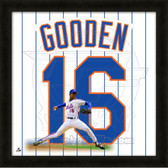 Doc Gooden New York Mets 20x20 Framed Uniframe Jersey Photo