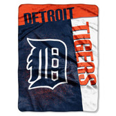 "Detroit Tigers 60""x80"" Royal Plush Raschel Throw Blanket - Strike Design"