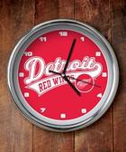 Detroit Red Wings Chrome Clock