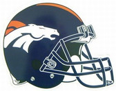 "Denver Broncos 12"" Helmet Car Magnet"