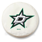 Dallas Stars White Tire Cover, Large
