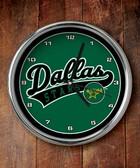 Dallas Stars Chrome Clock