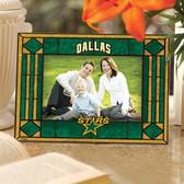 Dallas Stars Art Glass Horizontal Picture Frame
