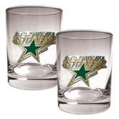 Dallas Stars 2pc Rocks Glass Set - Primary Logo
