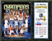 Dallas Mavericks 2011 NBA Finals Championship Plaque