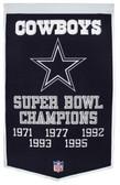 """Dallas Cowboys 24""""x36"""" Wool Dynasty Banner"""