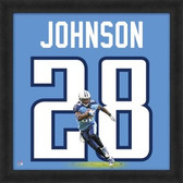 Chris Johnson Tennessee Titians 20x20 Framed Uniframe Jersey Photo