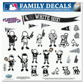 """Chicago White Sox 11""""x11"""" Family Decal Sheet"""