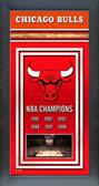 Chicago Bulls Framed Championship Banner